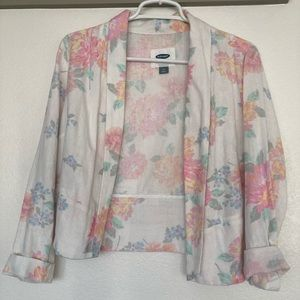 Lovely floral print lightweight blazer